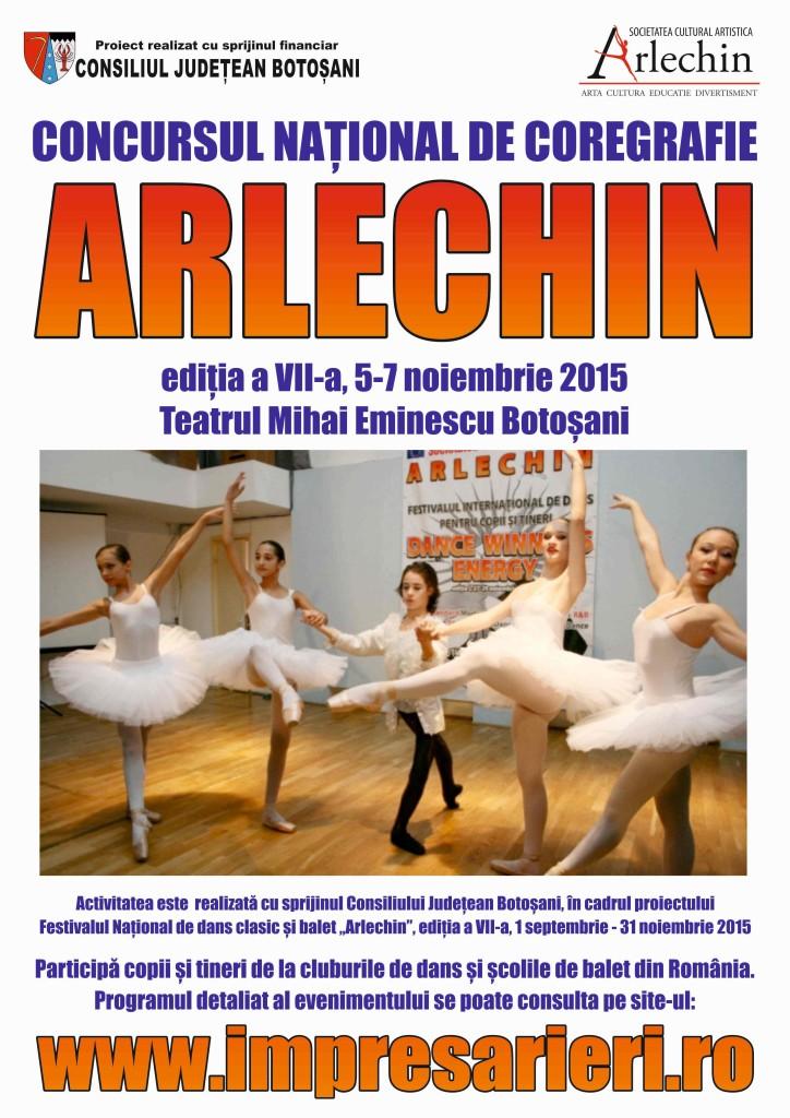 Concursul National de Coregrafie - ARLECHIN - 5 - 7 noiembrie 2015