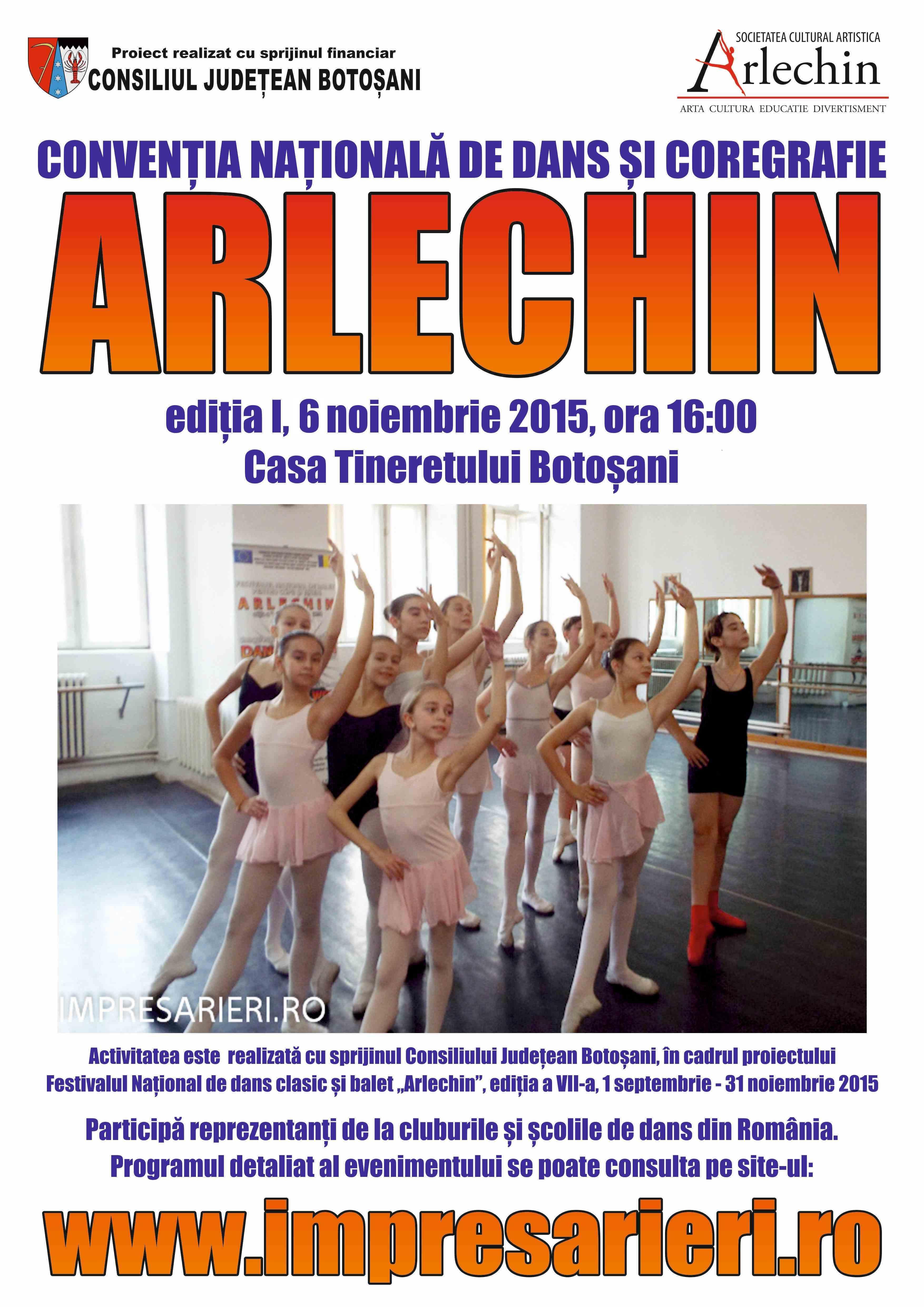Conventia Nationala de dans si coregrafie ARLECHIN - 6 noiembrie 2015