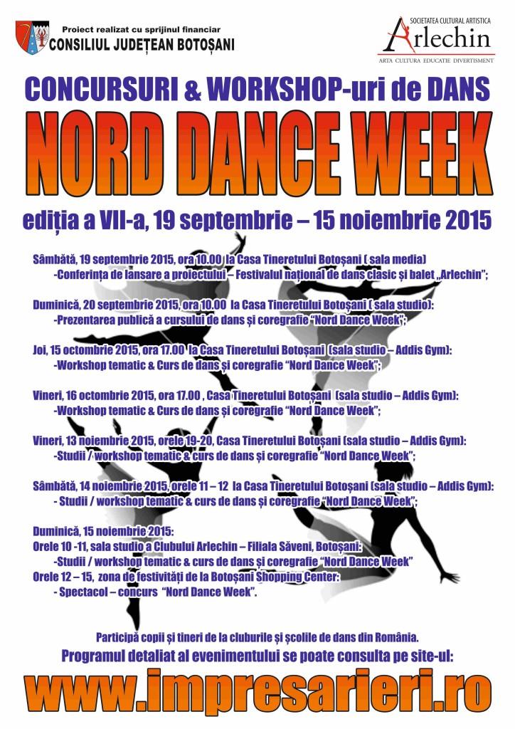NORD DANCE WEEH - Cursuri şi workshop dans 2015